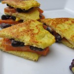 Cauliflower Quesadillas with Sweet Potatos & Black Beans