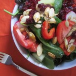 Pumpkin Seed & Cranberry Salad with Easy Dressing
