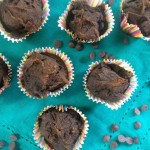 Double Chocolate Pumpkin Mini Muffins