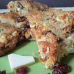 Paleo & Vegan White Chocolate Cranberry Scones