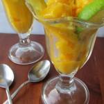 Mango Ginger Lime Sorbet