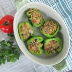 Vegan Lentil & Quinoa Stuffed Peppers