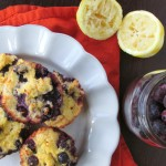 Paleo & Nut Free Lemon Blueberry Muffins